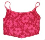 POOL PARTY Red Floral Bikini Top - Size L