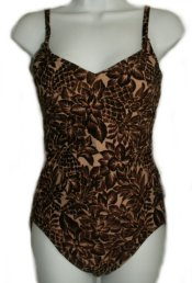 LIZ CLAIBORNE Animal Like Print 2 PC TANKINI - Size 10