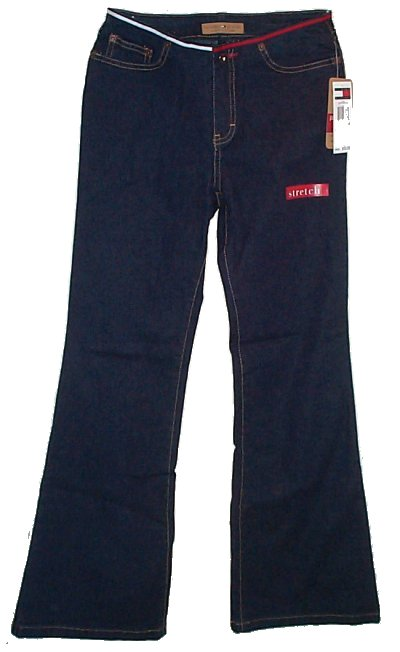 TOMMY HILFIGER Jill Mod Bell Low Rise Dark Denim Jeans -Girls 14