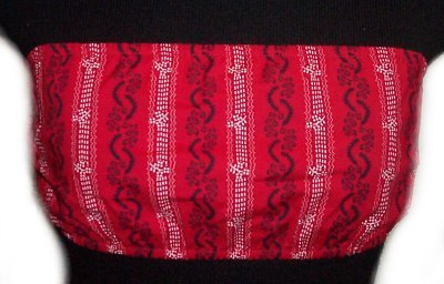 TOMMY HILFIGER Red Print Tube Top - Size XS