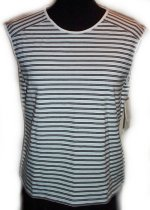 LIZ CLAIBORNE LizSport Striped Sleeveless Top-MP