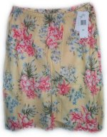 JONES NEW YORK JNY Yellow Floral Linen Skirt - Size 12