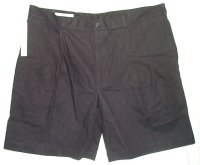PERRY ELLIS Black Pleated Front Shorts - Mens 42