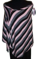 DOLLED UP by FANG Striped Stretch Poncho - Jrs Large
