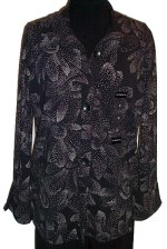 LIZ CLAIBORNE Blouse Shirt Tunic - Large