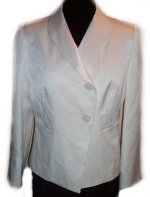 DONNA MORGAN SILK Asymmetrical Jacket - 10P