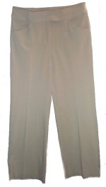 STUDIO M Beige Wide Leg Stretch Pants - Size 12