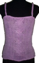 BCBG To The Max Chunky Knit Camisole Top -  Large