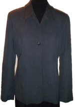 BANANA REPUBLIC 100% Silk Charcoal Lined Jacket - Size 8