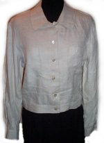 TALBOTS 100% Irish Linen Jean Style Jacket - Misses 8