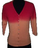 POINT ZERO by NICOLE BENISTI Sunset Orange Cardigan Sweater - Juniors Small