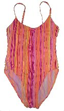 ISLANDER Striped 1 Pc Swimsuit Bathing Suit - 12
