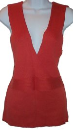 OLD NAVY Cotton Ribbed Knit Low V-Neck Sleeveless Top/Vest - XXL