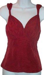 MEXX 100% Deep Red Silk Sexy Camisole Top - Misses/Jrs 4