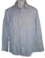 RON CHERESKIN Textured Fabric Light Blue Button Front Shirt - Mens Medium - NEW!