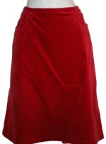 JACKPOT Red Stretch Velvet Lined A-Line Skirt - Size 10