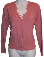 JOSEPH A. Rose Pink Cardigan Sweater - Medium