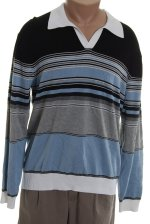 PERRY ELLIS Polo Style Striped Sweater - XL