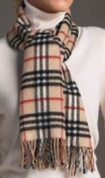 Classic Plaid Cashmere / Wool Blend Scarf - 12 x 60 - Various colors