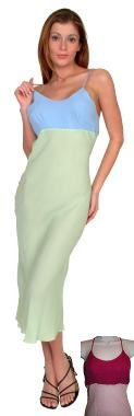 SILK Crepe Long Chemise Night Gown - Medium