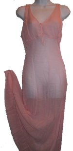 Silk Chiffon Sheer Nightgown / Long Chemise - NEW!