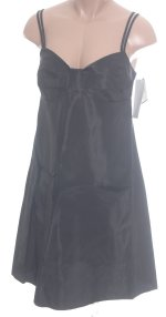 RUBY ROX Black Taffeta Spaghetti Strap Dress - Size 11