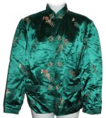 PURE SILK Mandarin Styled Cropped Jacket - Small