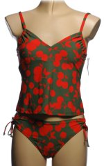 ATHENA Cherry Themed Tankini - Size 6