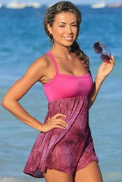 PINKY Sparkle Babydoll Sheer Beach Dress