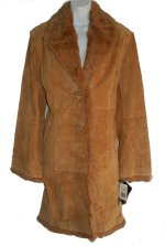 ADLER COLLECTION Leather & Fur 3/4 Coat - L