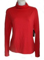 JONES NEW YORK JNY Red Modal Mock Neck Top - M