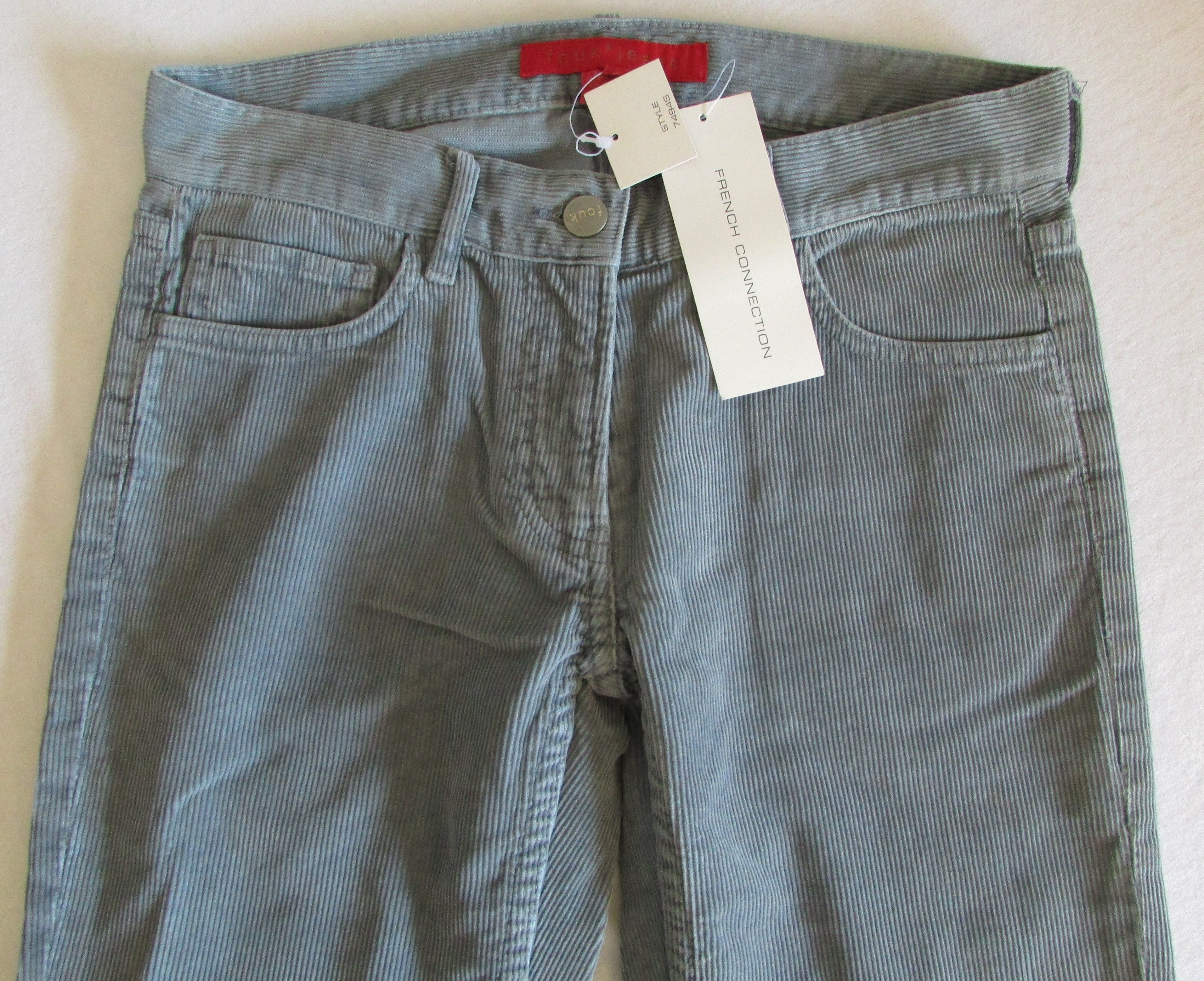 FCUK FRENCH CONNECTION Grey Corduroy Vintage Flared Jeans - 2