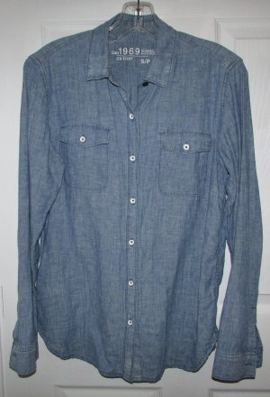 GAP 1969 Linen Cotton Blend Jean Style Shirt - Small
